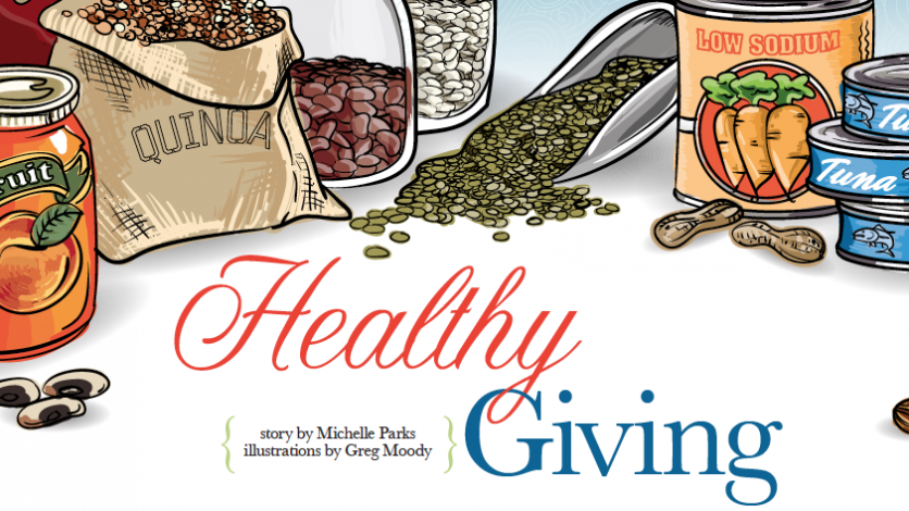 Healthy giving story illustration