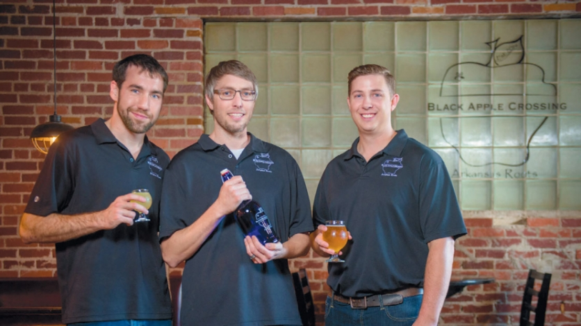 Leo Orpin, Trey Holt, and John Handley opened Arkansas' first commercial cidery in Springdale in July.