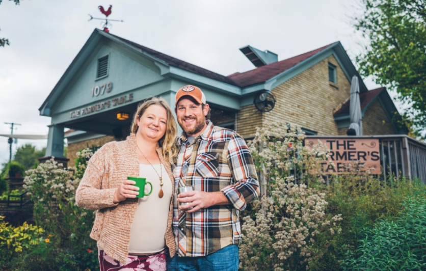Adrienne and Rob Shaunfield are the owners of The Farmer's Table Cafe in Fayetteville.