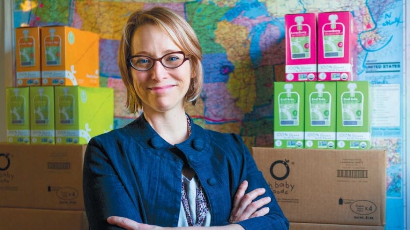 Fran Free and packages of Oh Baby Foods