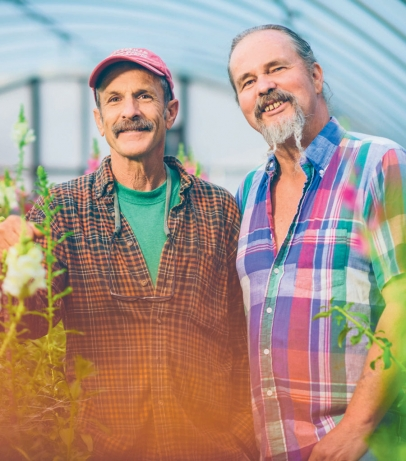 Mark Cain and Michael Crane are co-owners and co-managers of Dripping Springs Garden