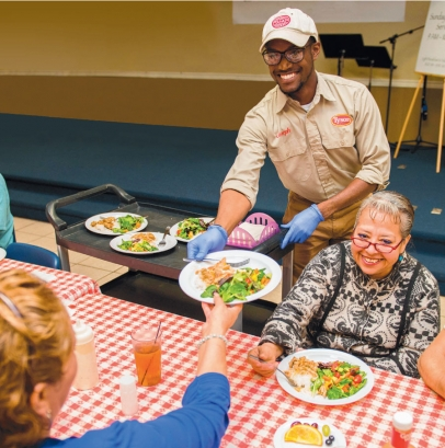 Joseph Frederick volunteers his Tuesdays to serve guests at the Samaritan Cafe in Springdale