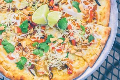 Thai Curry pizza