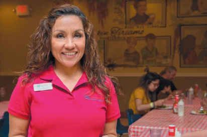Elisa Pulido, the Samaritan Café program coordinator