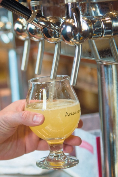 homemade cider from the tap