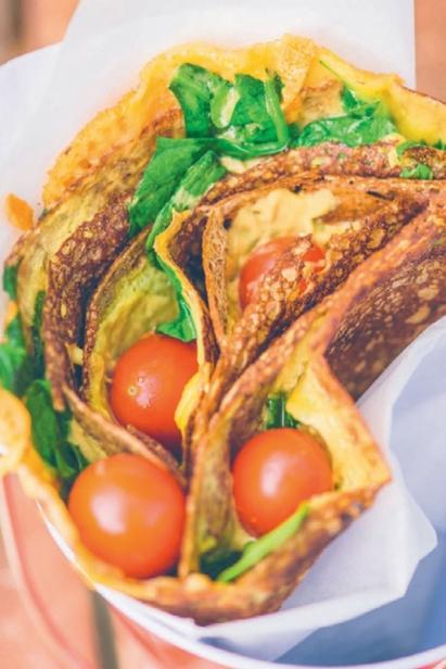 Spinach & Tomato Crêpe
