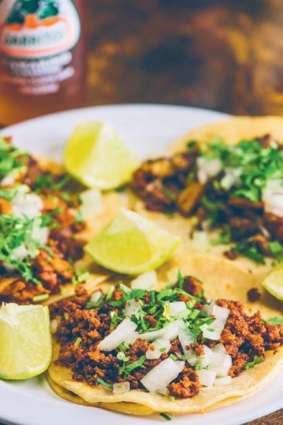 Guanajuato 2's alambre, chorizo, and al pastor tacos