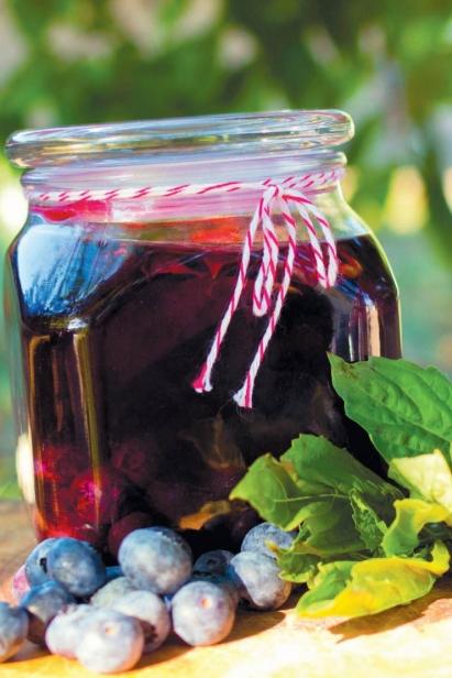 Blueberry Basil Vinegar
