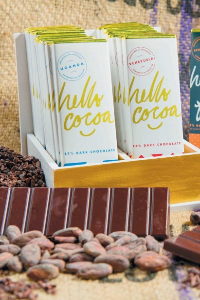 locally handcrafted chocolate bars from Hello Cocoa