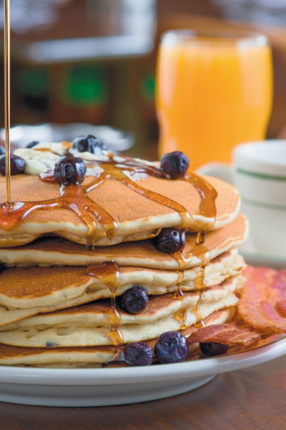 The Pancake Shop's Blueberry Pancakes