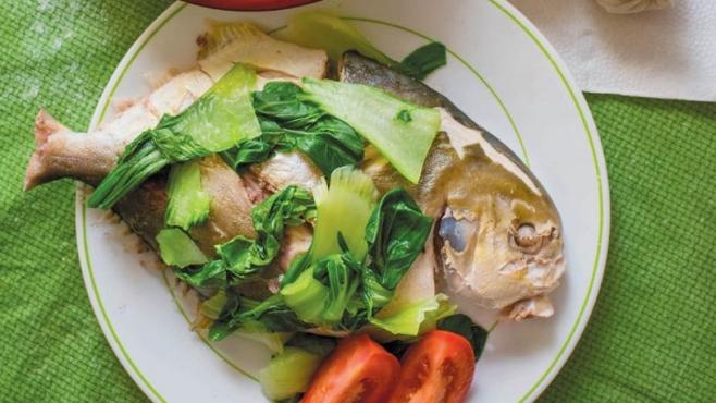 Marshallese Porridge and Boiled Fish